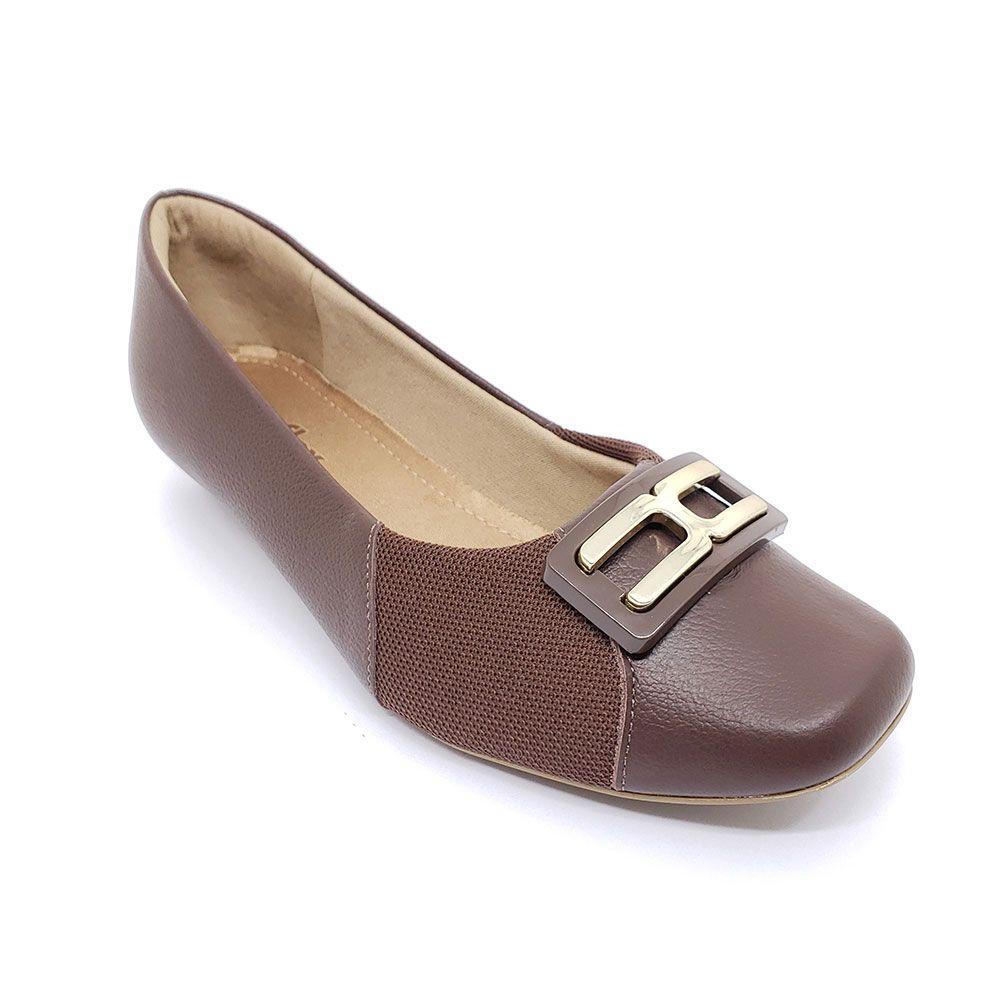 Sapato Joanete Care Usaflex Couro - AC0806