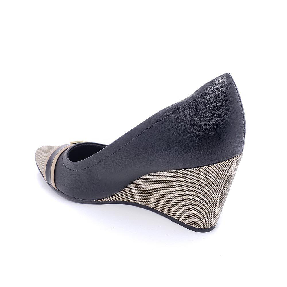 Sapato Piccadilly Anabela Bico Fino 743006