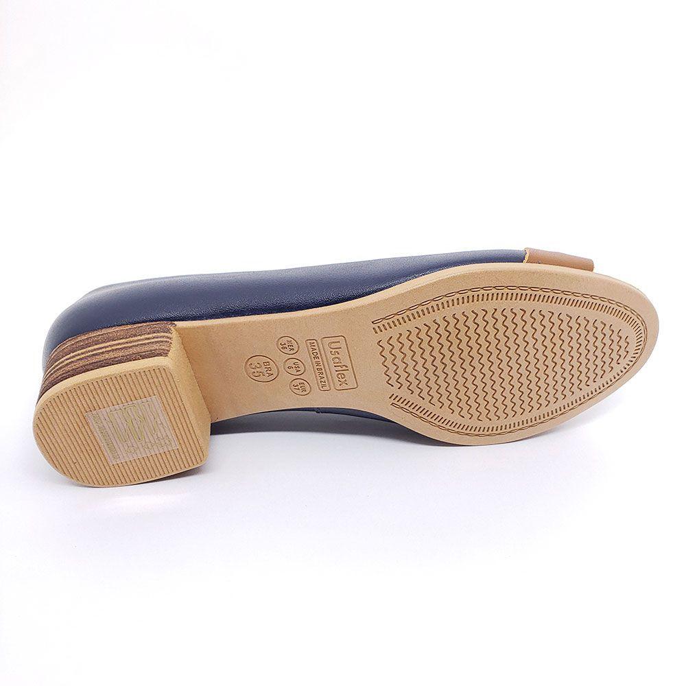 Sapato Usaflex Couro Comfort - AD0407