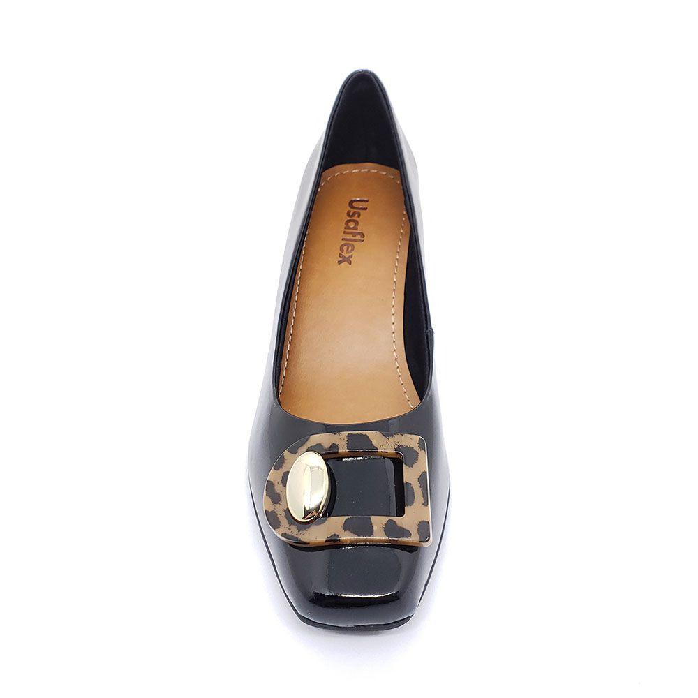 Sapato Usaflex Verniz Preto - AC2504