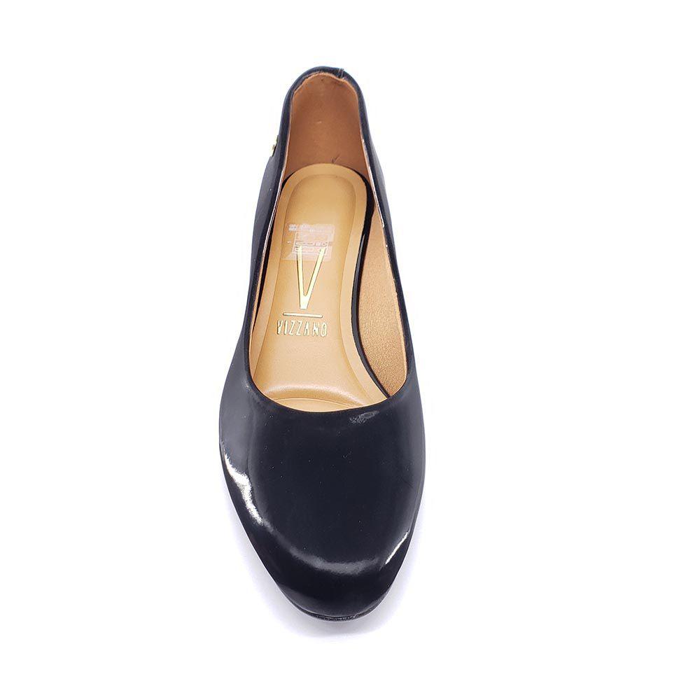 Sapato Vizzano Salto Bloco Nobuck Gloss 1346.100