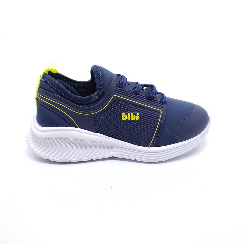 Tênis Infantil Bibi Fly Baby Masculino Azul com Neon 1136058