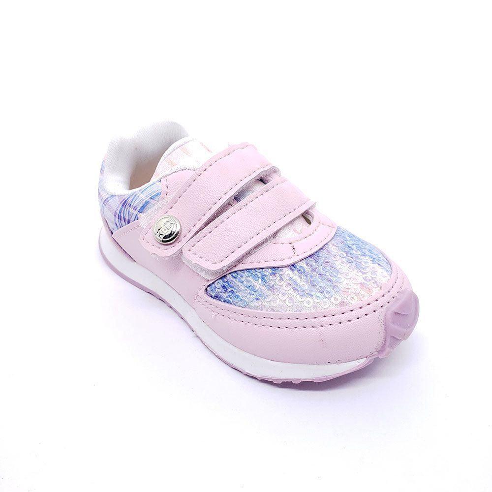 Tênis Klin Bebê Rosa Velcro