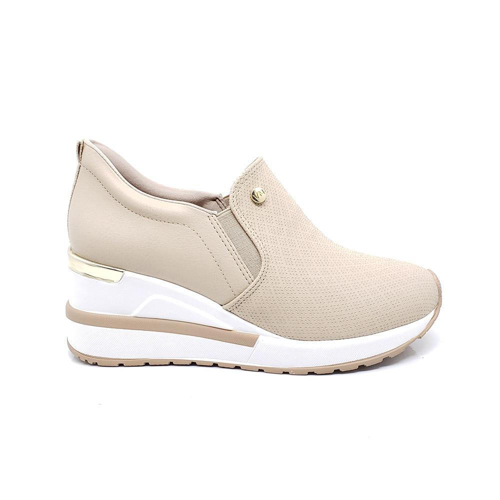 Tênis Via Marte Sneaker Anabela Slip On Plataforma Feminino 21-1252