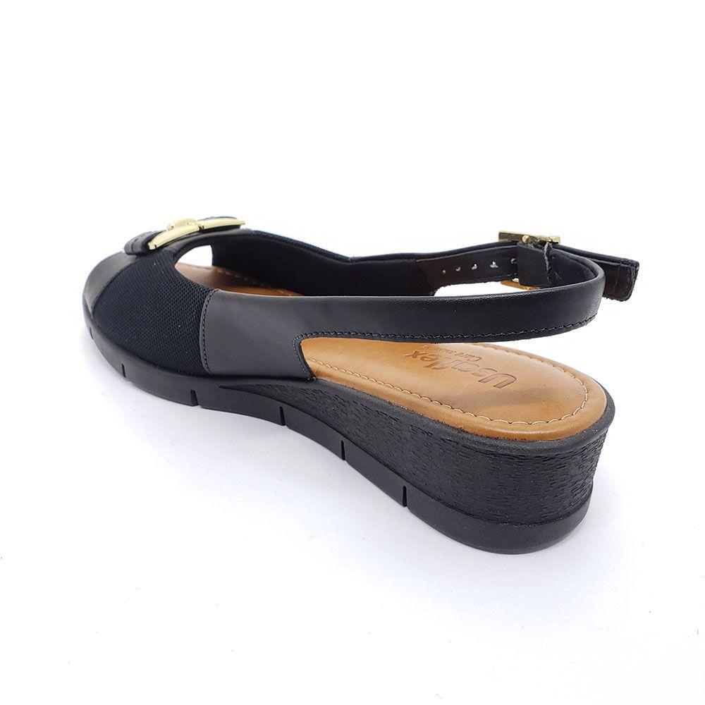Sandália Usaflex Anabela Soft Slim