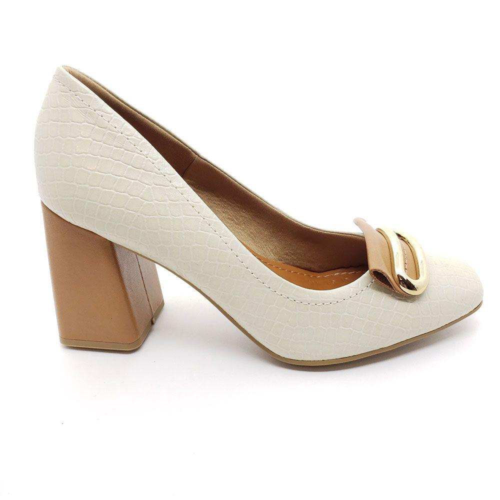 Sapato Scarpin Couro Usaflex - AB9905