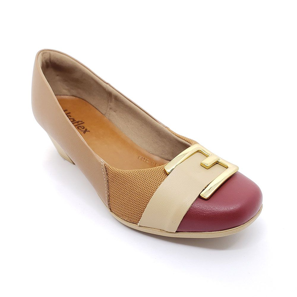 Sapato Usaflex Couro Joanetes