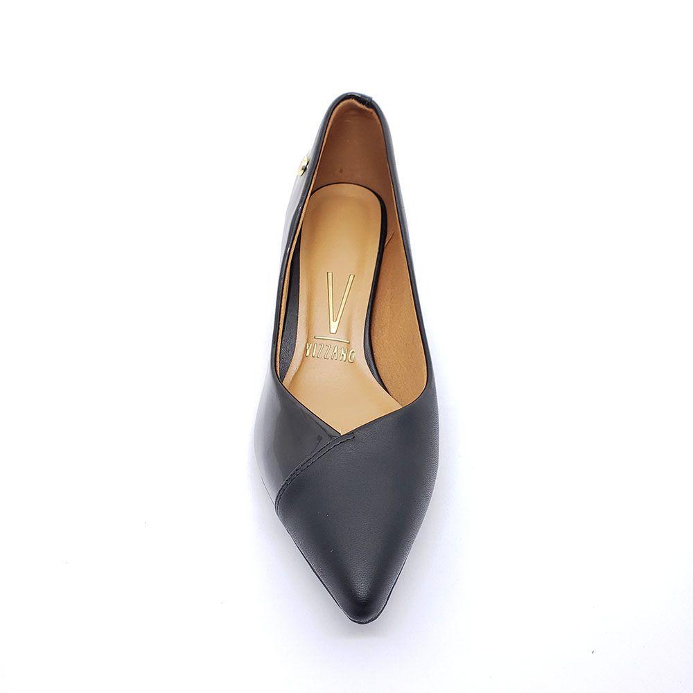 Sapato Scarpin Vizzano Salto Baixo Verniz