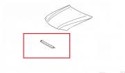 Guarnição Borracha alveolar capo/radiador Corolla