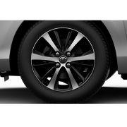 """Roda 15"""" com Acabamento Dual Tone (Preto e Prata) Yaris Sedã XL XS XLS"""