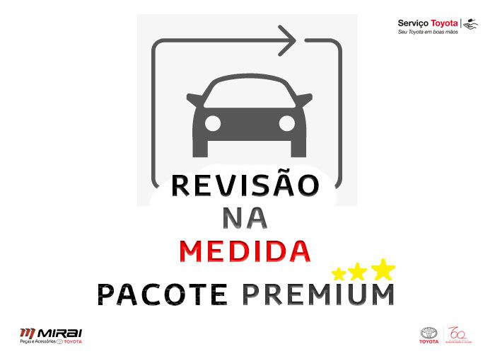 3 Revisões   Prius   Pacote Premium  - Mirai Peças Toyota