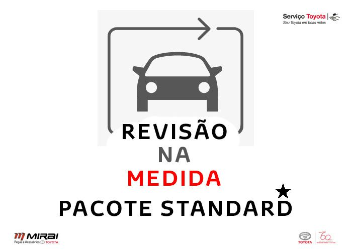 3 Revisões | Prius | Pacote Standard  - Mirai Peças Toyota