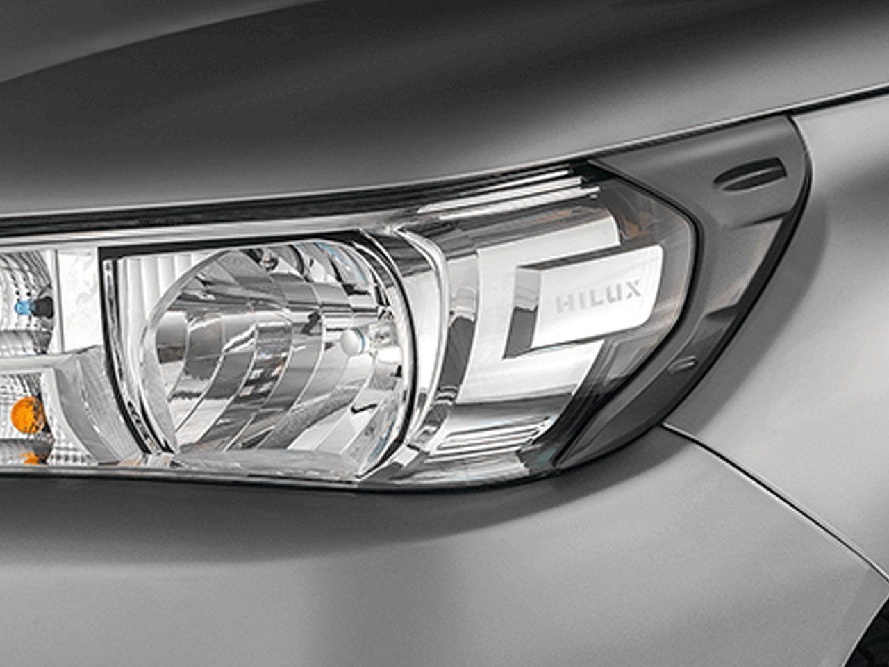 Aplique Preto Brilhante do Farol Hilux STD SR SRV SRX GR-S Cabine Simples  - Mirai Peças Toyota