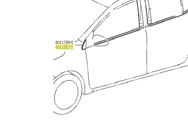 Cobertura coluna dianteira esquerda  - Mirai Peças Toyota