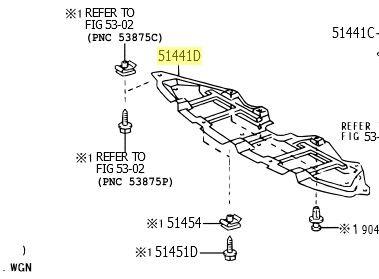Cobertura inferior do Motor  - Mirai Peças Toyota