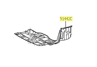 Cobertura inferior do Motor lado esquerdo Yaris  - Mirai Peças Toyota