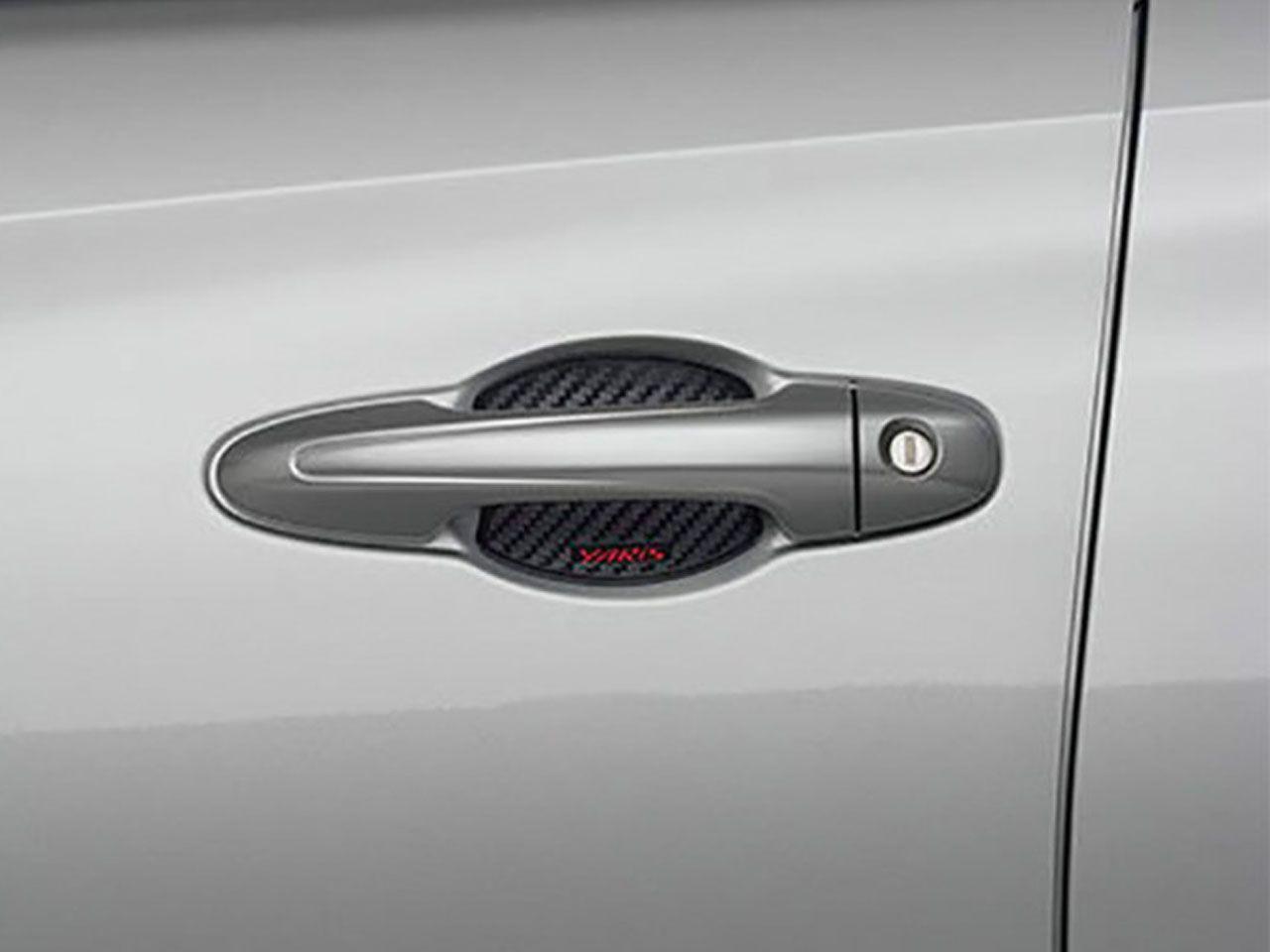Aplique de Carbono da Maçaneta Yaris Sedã XL XS XLS  - Mirai Peças Toyota