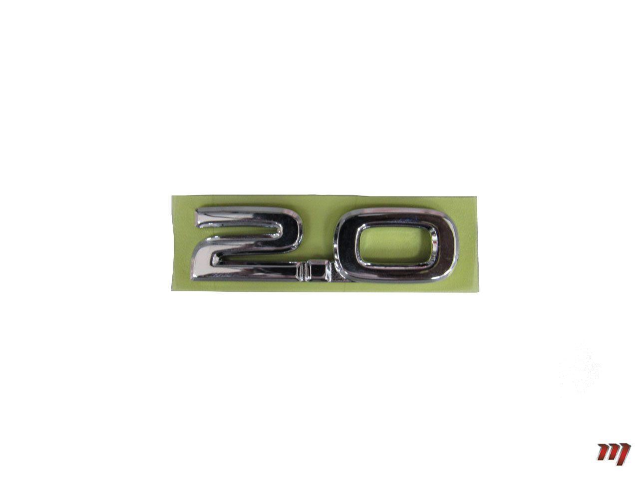 Emblema 2.0 Tampa Traseira Corolla 2010 a 2014  - Mirai Peças Toyota
