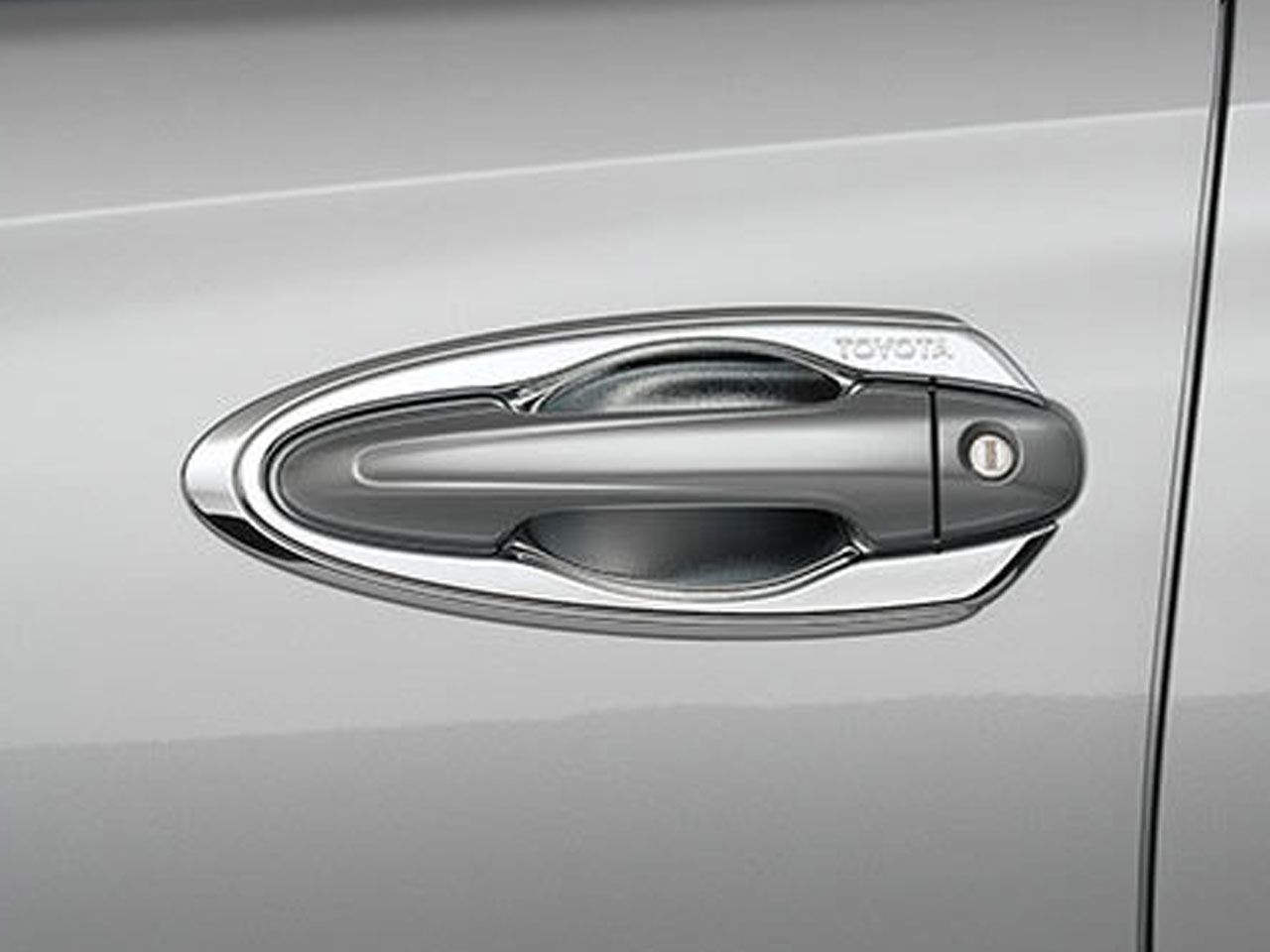 Moldura Cromada da Maçaneta Yaris Sedã XL XS XLS  - Mirai Peças Toyota