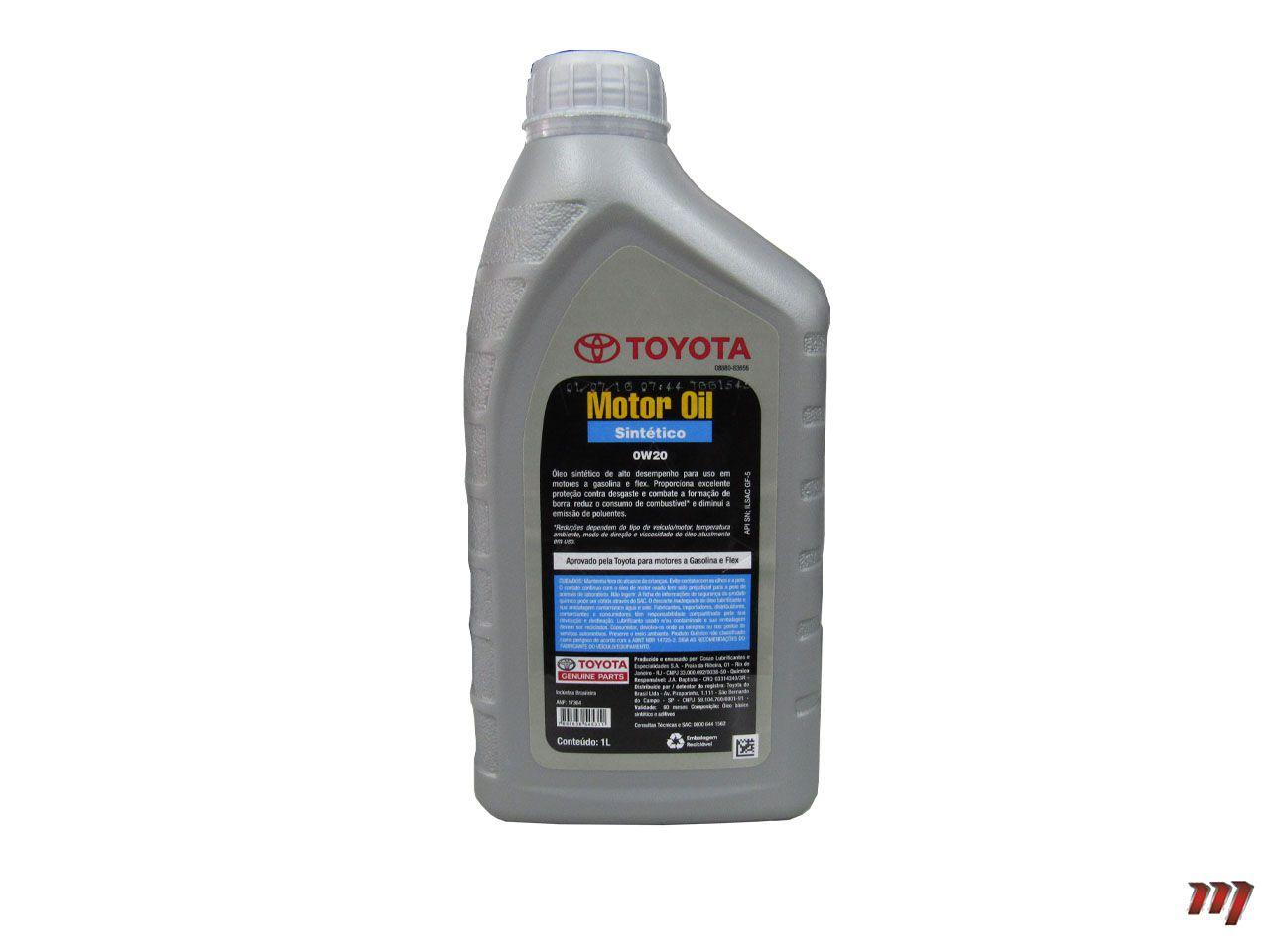 Óleo Motor 0W20 Sintético  - Mirai Peças Toyota