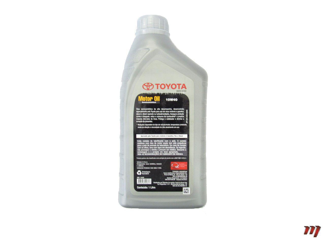 Óleo Motor 10W40 Semissintético  - Mirai Peças Toyota