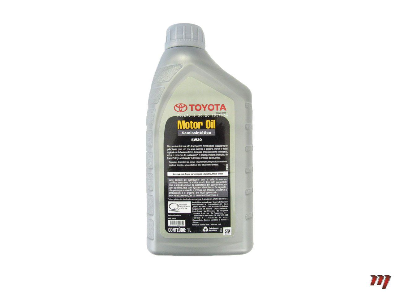 Óleo Motor 5W30 Semissintético  - Mirai Peças Toyota