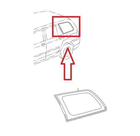 Vidro janela lateral traseira Fielder  - Mirai Peças Toyota