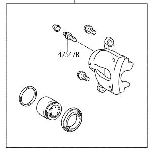 Pinça de freio dianteiro lado esquerdo Corolla  - Mirai Peças Toyota