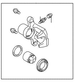 Pinça de freio traseiro lado esquerdo Corolla  - Mirai Peças Toyota