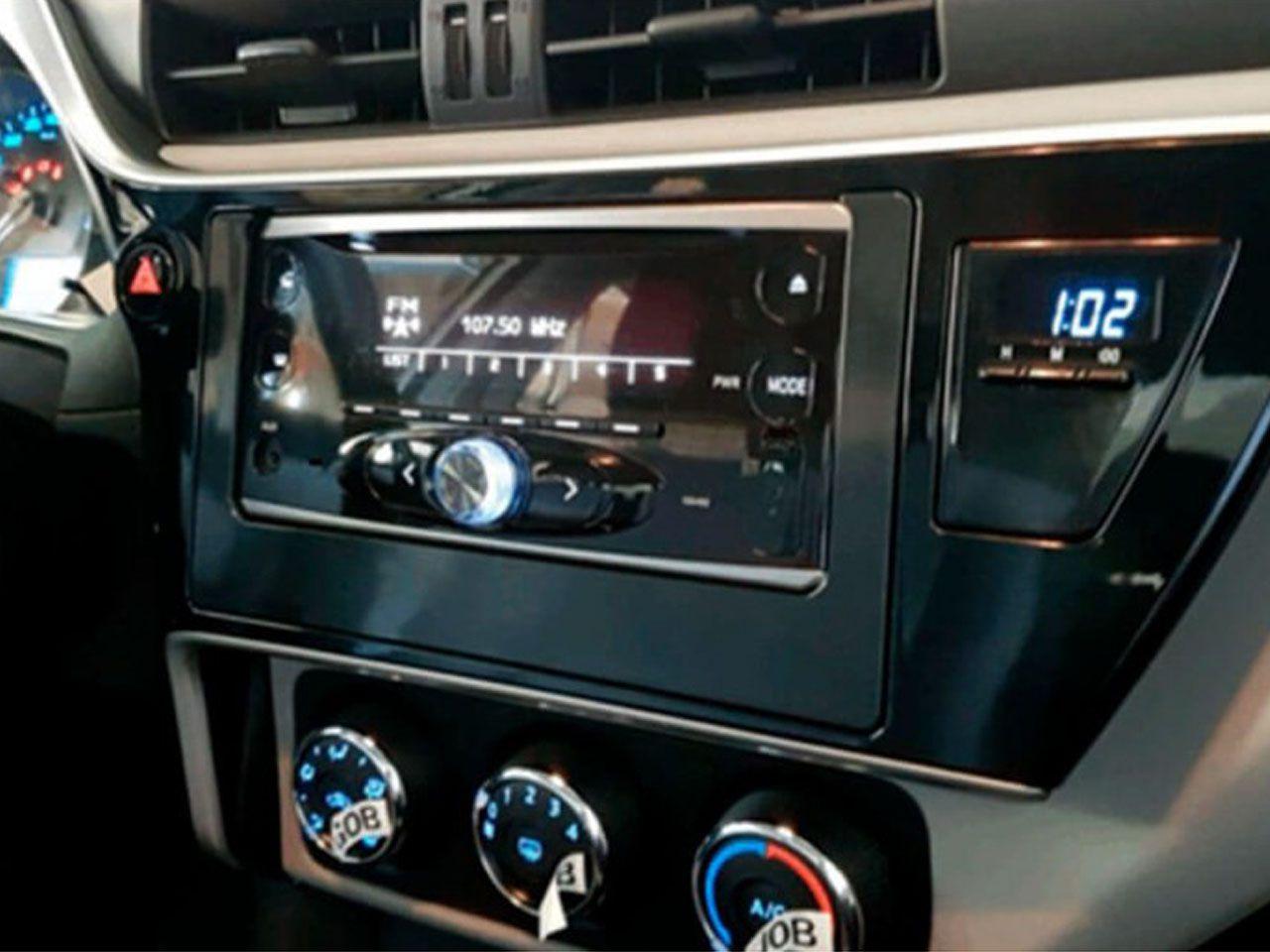 Rádio 2 Din com CD Player e Bluetooth Etios Sedã X (Aut. & Man.)  - Mirai Peças Toyota