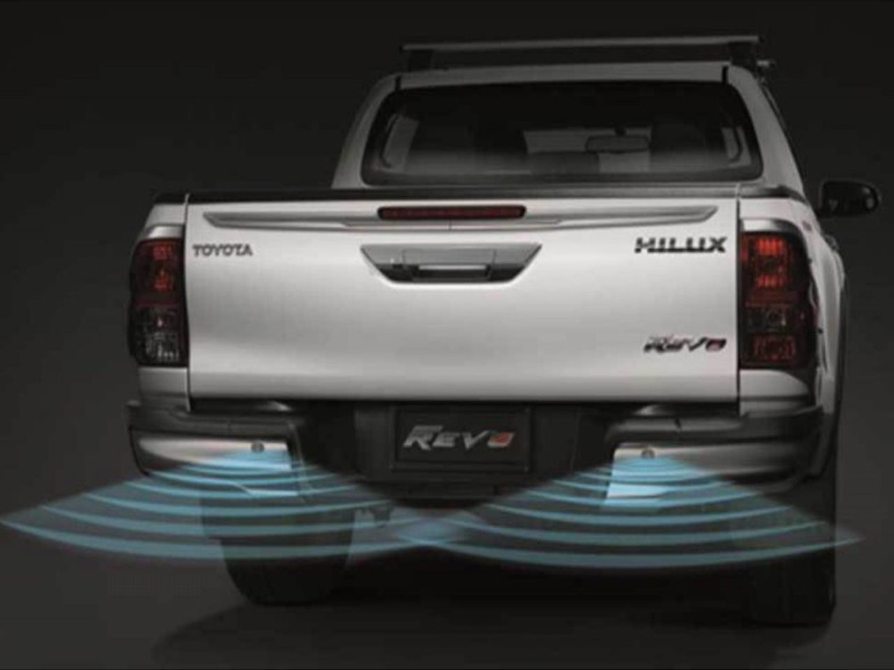 Sensor de Estacionamento Cromado Genuíno Hilux STD SR SRV SRX Chassi Cabine Simples  - Mirai Peças Toyota