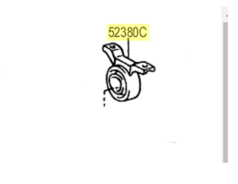 Suporte diferencial Traseiro RAV4  - Mirai Peças Toyota