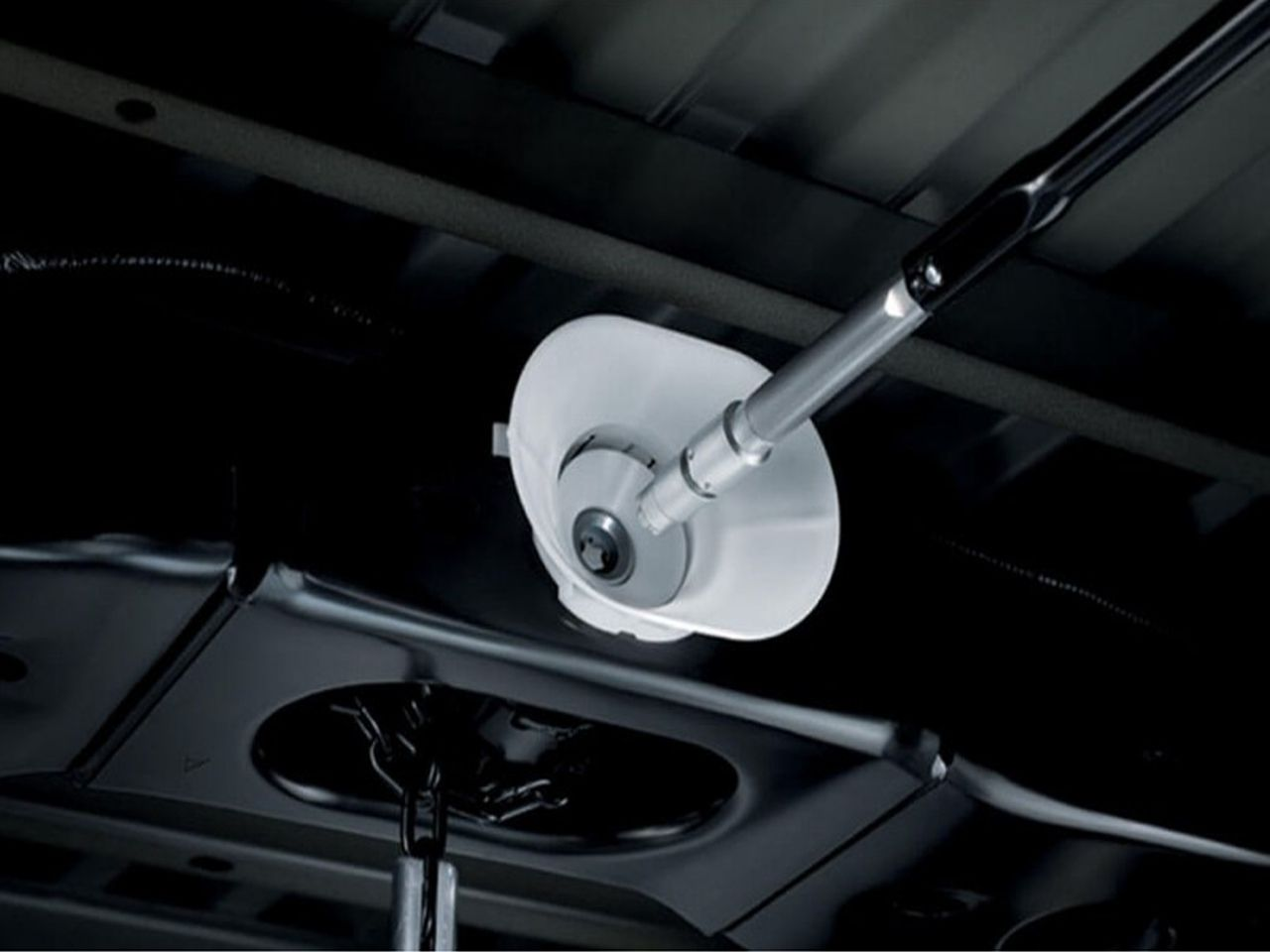 Trava Antifurto do Estepe Hilux STD SR SRV SRX Chassi Cabine Simples  - Mirai Peças Toyota