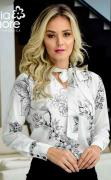 Blusa C Laço Gola - Moda Evangélica Maria Amore (2518 E)