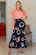 Blusa Crepe Amassadinho - Moda Evangélica Kauly (3038 T)