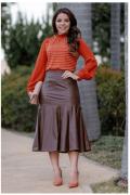 Blusa Crepe e Malha Viscose - Moda Evangélica Kauly (2827 E)