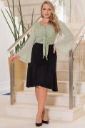 Blusa Twin Set Viscolinho - Moda Evangélica Kauly (3099 T)