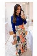Camisa Com Gola E Punho Em Guippir - Maria Amore (3082 E)