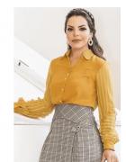 Camisa Crepe Chiffon - Moda Evangélica Kauly (2797-E)