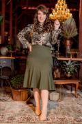 Camisa Plus Size Animal Print - Moda Evangélica Kauly (3088 E)