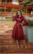 Chemisier Manga Longa Bufante - Moda Evangélica Joyaly (30999 E)