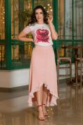 Cj T-Shirt+Saia Mullet - Moda Evangélica Luciana Pais (92924-92925 E)