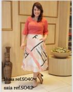 Conj Blusa + Saia - Moda Evangélica - CECHIQ (5040-5058 E)