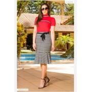 Conj T-Shirt + Saia - Moda Evangélica Luciana Pais (92802-92803 T)