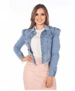 Jaqueta Jeans Love - Moda Evangélica Joyaly (12098 E)