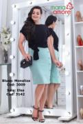 Saia Em Malha Crepe - Moda Evangélica Maria Amore (3142 T)