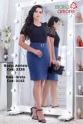 Saia Em Montaria C Fivela - Moda Evangélica Maria Amore (3152 T)