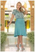 Cj Body Camisa Seda+Saia - Moda Evangélica Kauly (2997-2998 E)