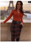 Saia Midi Paris - Moda Evangélica Lançto Joyaly (30503)