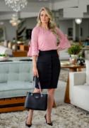 Saia Secretária C Botões - Moda Evangélica Maria Amore (3151 E)